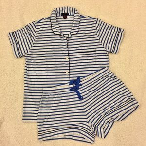 EUC J. Crew Striped Pajama Set